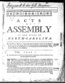 Acts of assembly of the State of North Carolina [1784] Laws of North-Carolina