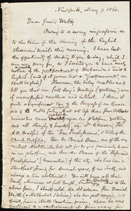 Letter from Samuel May, Jr., New York and Leicester, [Mass.], to Richard Davis Webb, May 9, 1860