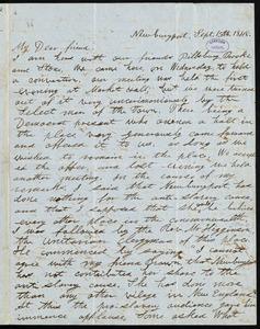 Letter from William Wells Brown, Newburyport, [Mass.], to William Lloyd Garrison, Sept. 15th, 1848