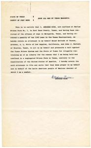 Affidavit from Abraham Rios