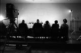 Men and women seated at a table before the Senate Subcommittee on Employment, Manpower, and Poverty, during a hearing at the Heidelberg Hotel in Jackson, Mississippi.
