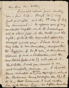 Letter from Samuel May, Boston, to John Bishop Estlin, July 1, 1847