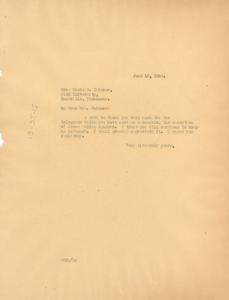 Letter from W. E. B. Du Bois to Marie B. Johnson
