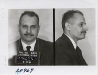 Mississippi State Sovereignty Commission photograph of Percy E. Sutton following his arrest for his participation in the Freedom Rides, Jackson, Mississippi, 1961 June 8