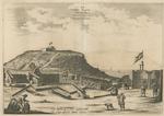 Het Fort Nassou van Binnen, met Oranje, op 't Eilant Goeree