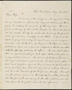 Letter from William Lloyd Garrison, West Randolf, [Vt.], to Helen Eliza Garrison, Aug. 26, 1858