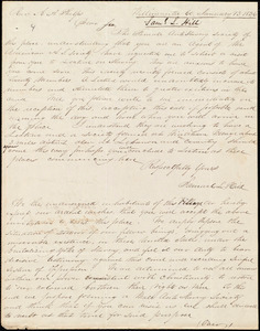 Letter from Samuel L. Hill, Willimantic, Ct., to Amos Augustus Phelps, January 13 1836