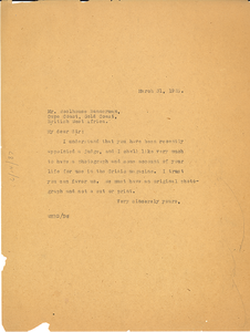 Letter from W. E. B. Du Bois to Woolhouse Bannerman