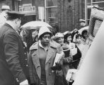 Photograph of student demonstrators being escorted into a paddy wagon, Nashville, Tennessee, 1960 March 03