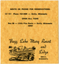 Advertising card for Flagg Lake Mary Report