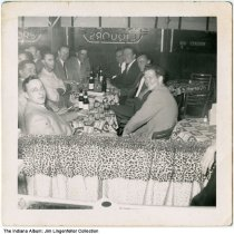 Group of men in bar, Indianapolis, Indiana, circa 1955
