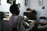 John Blassingame in office at Yale University, 1979.(John Blassingame 013)