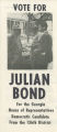 SAVF-Julian Bond (Social Action Vertical File, circa 1930-2002; Archives Main Stacks, Mss 577, Box 6, Folder 131)