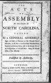 Acts of assembly of the State of North Carolina [1777] Laws of North-Carolina
