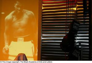 Muhammad Ali Display Gloves on Stage Ali...The Man, The Myth, The People's Champion