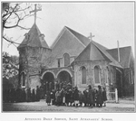 Attending daily services, Saint Athanasius' School; [Brunswick, Georgia.]