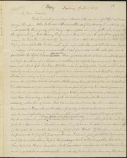 Copy of letter to] My Dear Friend [manuscript
