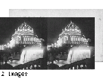 Beautifully illuminated Festival Hall from West Cascade, Louisiana Purchase Exposition