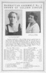 Manhattan Assembly No. 3; Order of Golden Circle; E. H. Tolliver Warner; First Loyal Lady Ruler; Nancy H. Parker; First Financial Secretary