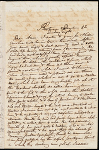 Incomplete letter from Maria Weston Chapman, Boston, [Mass.], to Anne Warren Weston, September 22, [1839?], Sunday night
