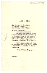 Letter from W. E. B. Du Bois to Dixwell Players