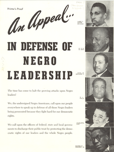 An appeal in defense of Negro Leadership