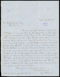Letter from George F. Cheever, Salem, to William Lloyd Garrison, July 18th, 1850