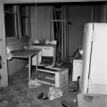 Debris and damage in the kitchen at 16th Street Baptist Church in Birmingham, Alabama, after the building was bombed.