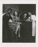 "Scene from the Broadway production of the American Negro Theatre's ""Anna Lucasta,"" featuring (left to right) Canada Lee, Hilda Simms, Alice Childress and Alvin Childress"