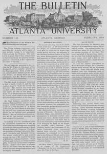 The Bulletin of Atlanta University, February 1904 no. 143, Atlanta, Georgia