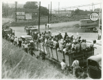 Cotton hoers loading at Memphis, Tennessee for the day's work in Arkansas. June 1937