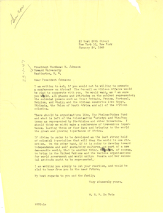 Letter from W. E. B. Du Bois to Howard University