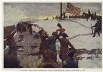 Raising the first American flag, Somerville, Mass., January 1, 1776