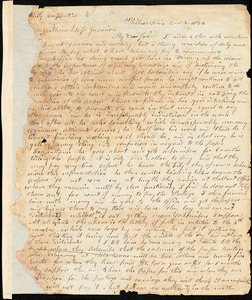 Letter from Arnold Buffum, Philadelphia, [Pennsylvania], to William Lloyd Garrison, 1834 [February] 4