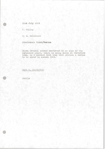 Memorandum from Mark H. McCormack to Phil Pilley
