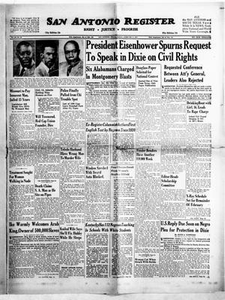 San Antonio Register (San Antonio, Tex.), Vol. 26, No. 52, Ed. 1 Friday, February 8, 1957