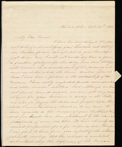 Letter from Mary Grew, Philadelphia, [Penn.], to Maria Weston Chapman, Feb'y 25th, 1846