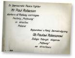 Photo Album Dedicated to Paul Robeson