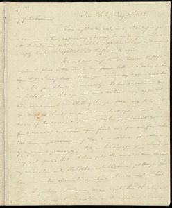 Letter from Charles Wheeler Denison, New York, to William Lloyd Garrison, Jan'y 21st, 1833