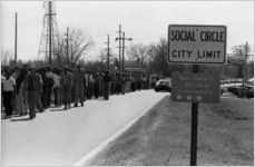 African American civil rights march from Social Circle to Monroe, Georgia, February 20, 1982.