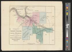 Survey of the President, Porcupine, and Redfield Petroleum Co.'s lands, containing in all 8,400 acres, situate in President and Pinegrove townships, Venango County, Pennsylvania / T & J Slator, city surveyors, 39 Nassau St N.Y.