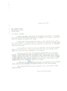Letter from W. E. B. Du Bois to Truman Nelson