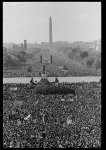 [Aerial view of marchers on the National Mall during the Million Man March, looking towards the Washington Monument]