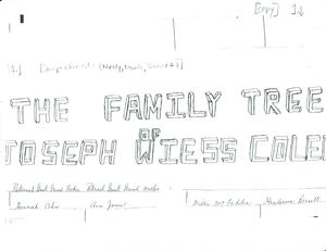 Student family histories: Colen, Joseph (Neely, Barnette)