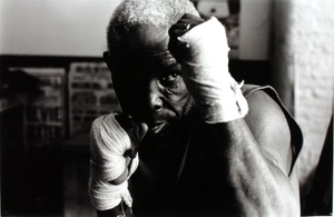 Unidentified Boxer with Taped Hands, Silver Fox Gym, Ancoats, Manchester, UK