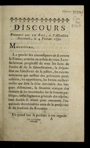 Discours prononcé par le roi, à l'Assemblée nationale, le 4 février 1790.