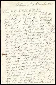 Letter to] Dear Miss Hateful W. Parkins [manuscript