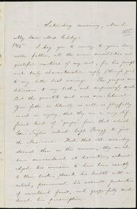 Letter from William Lloyd Garrison, [Boston, Mass.], to Eliza Frances Jackson Meriam Eddy, Saturday morning, Nov. 3, [1855]