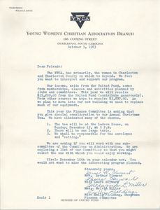 Letter from Irma R. Clement, Laura Heyward, Hildagarde L. Miller, and Emily Fielding, October 3, 1963