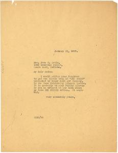 Letter from W. E. B. Du Bois to Jane C. Artis